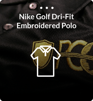 Nike Gold Dri-Fit Embroidered Polo