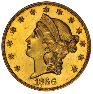 1856-O $20 Liberty Gold Piece