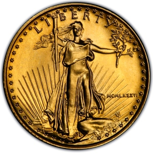 Obverse of $10 Gold American Eagle