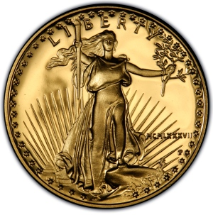 Obverse of $25 Gold American Eagle