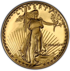 Obverse of $50 Gold American Eagle