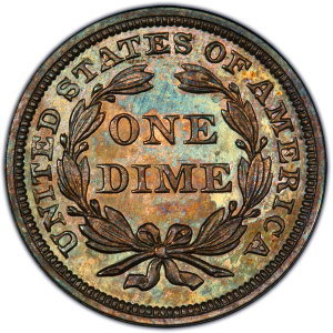 Reverse of 1855 Arrows Dime