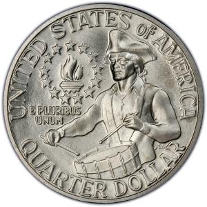 Reverse of 1976 Bicentennial Quarter Dollar, 40% Silver