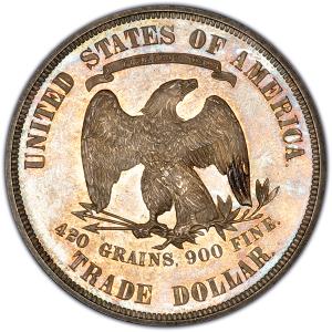 Reverse of 1874 Trade Dollar