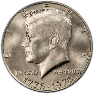 Obverse 0f 1976 Bicentennial Half Dollar, Clad
