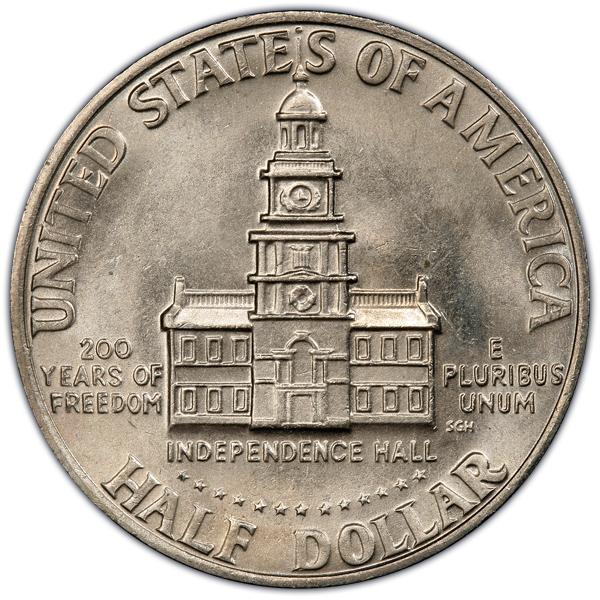Reverse 0f 1976 Bicentennial Half Dollar, Clad