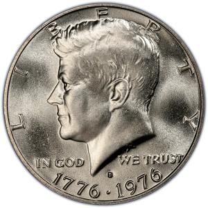Obverse of 1976-S Bicentennial Half Dollar, 40% Silver