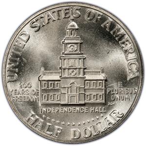 Reverse of 1976-S Bicentennial Half Dollar, 40% Silver