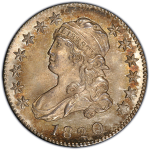 Obverse of 1820 Quarter Dollar