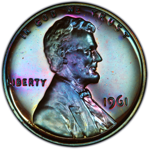 Obverse of 1961 Lincoln Cent