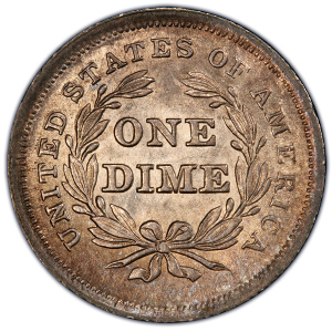 Reverse of 1839 No Drapery Dime