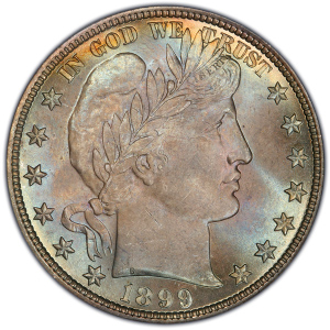 Obverse of 1899 Half Dollar
