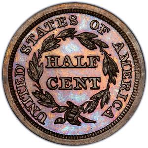 Reverse of 1855 Half Cent