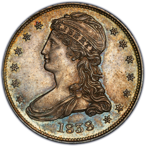 Obverse of 1838 Half Dollar
