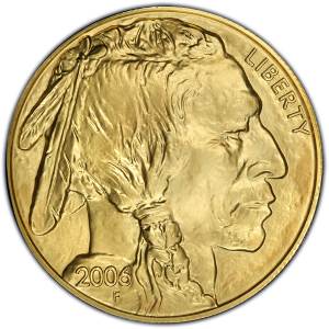Obverse of 2006 Gold Buffalo $50
