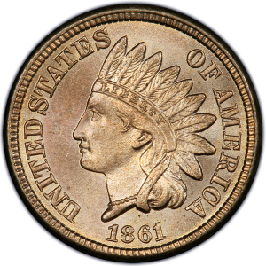 Obverse of 1861 Indian Head Cent