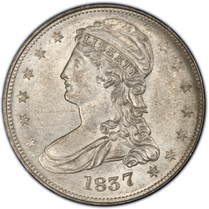 Obverse of 1837 Half Dollar