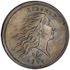 Obverse of 1793 Wreath Cent