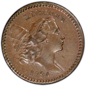 Obverse of 1794 Half Cent