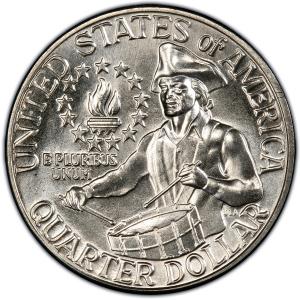 Reverse of 1876-D Bicentennial Quarter Dollar, Clad
