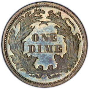 Reverse of 1871 Dime