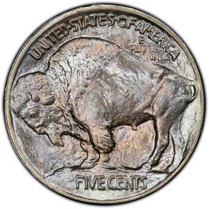 Reverse of 1913 Type 1 Buffalo Nickel