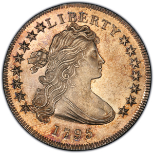 Obverse of 1795 Draped Bust Dollar