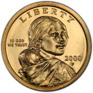 Obverse of Sacagawea Dollar