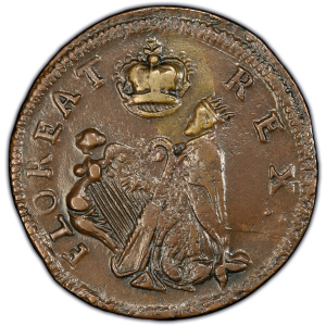 "Obverse of New Jersey ""St. Patrick"" Farthing"