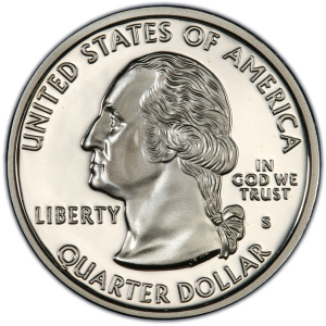 Obverse of 1999 New Zersey Statehood Quarter Dollar