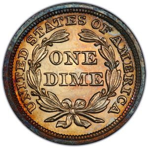 Reverse of 1857 Dime