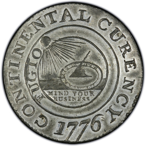 Obverse of 1776 Continental Dollars