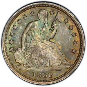 Obverse of 1838 Half Dime