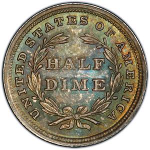 Reverse of 1838 Half Dime