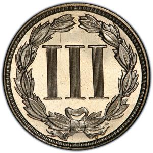 1881 Three Cents Nickel Reverse
