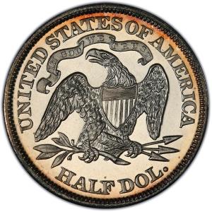 Reverse of 1869 Half Dollar