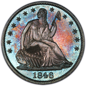 Obverse of 1846 Half Dollar