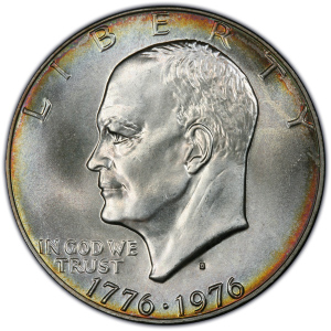 Obverse of 1976-S Bicentennial Eisenhower Dollar
