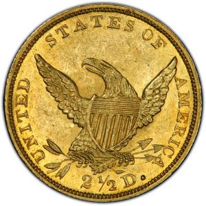 Reverse of 1836 Quarter Eagle