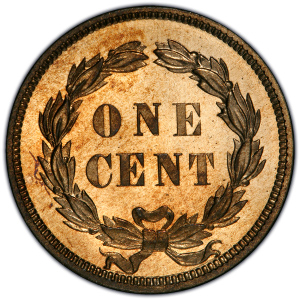 Reverse of 1859 Indian Head Cent