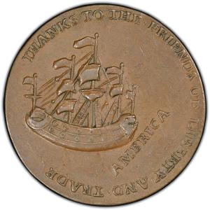 Reverse of 1766 Pitt Halfpenny