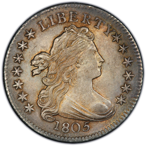 Obverse of 1805 Dime
