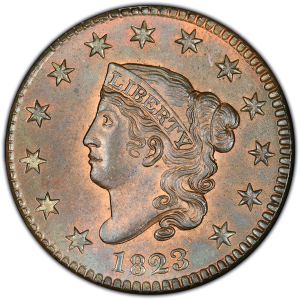 Obverse of 1823 Large Cent