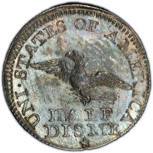 Reverse of 1792 Half Disme