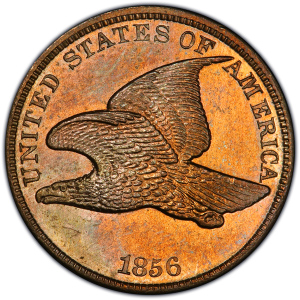 Obverse of 1856 Flying Eagle Cent