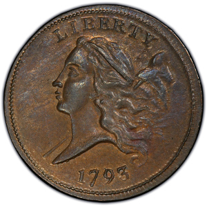 Obverse of 1793 Half Cent
