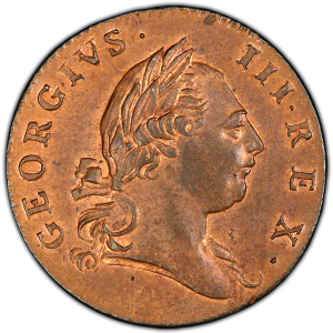 Obverse of 1773 Halfpenny