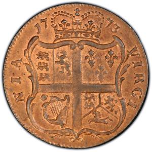 Reverse of 1773 Halfpenny