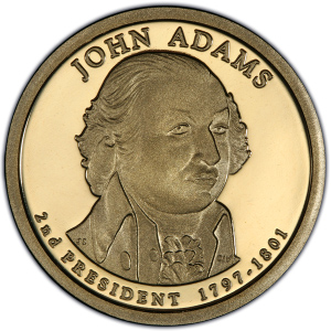 Obverse of John Adams Presidential Dollar