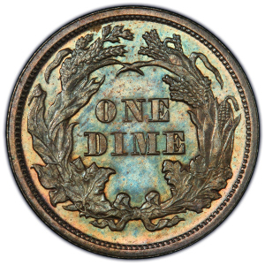 Reverse of 1874 Arrows Dime